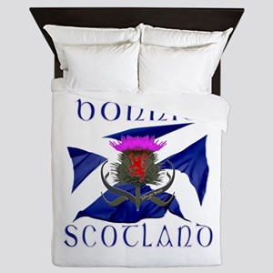 Bonnie Scotland Flag Design Queen Duvet