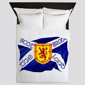 Scotland The Brave Flag Queen Duvet