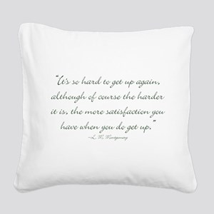 Its so hard to get up again Square Canvas Pillow