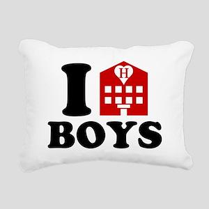 I Love Hotel Boys Rectangular Canvas Pillow