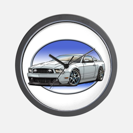 GT Stang White Wall Clock