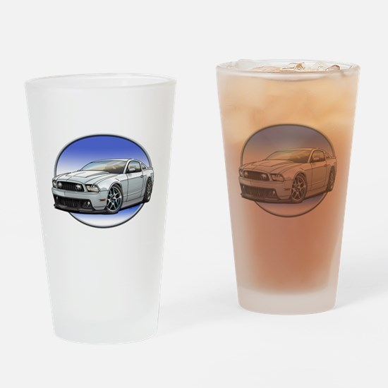 GT Stang White Drinking Glass