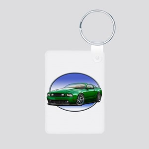 GT Stang Green Keychains