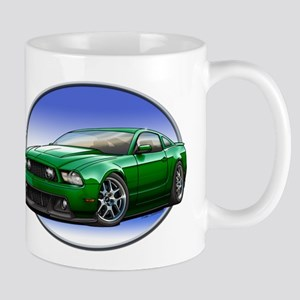 GT Stang Green Mugs