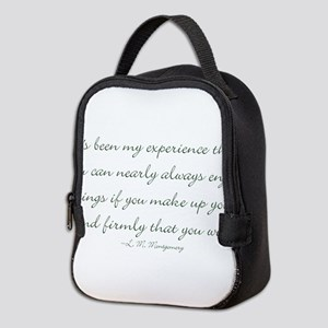 Make up your mind that you will Neoprene Lunch Bag