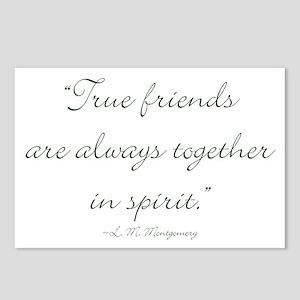 True friends are always together in spirit Postcar