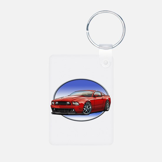 GT Stang Red Keychains