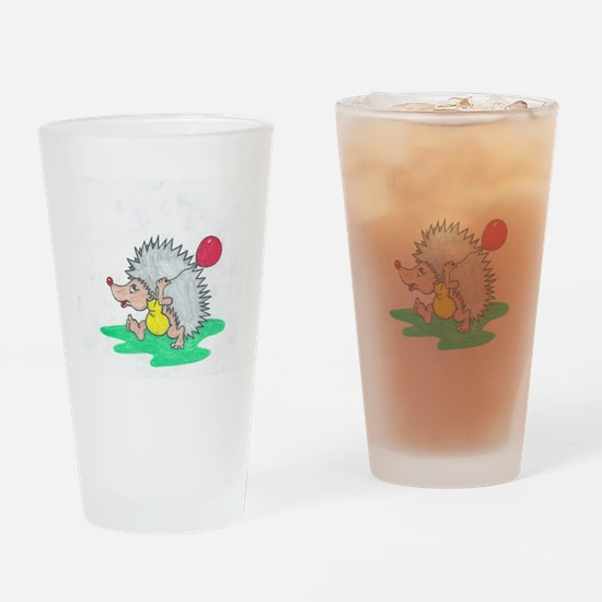 happy hedgehog Drinking Glass