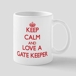 Keep Calm and Love a Gate Keeper Mugs