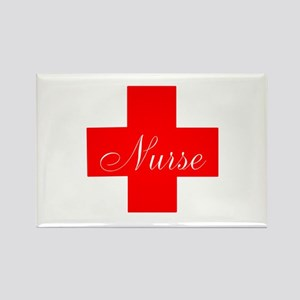 Nurse in Red and White Magnets