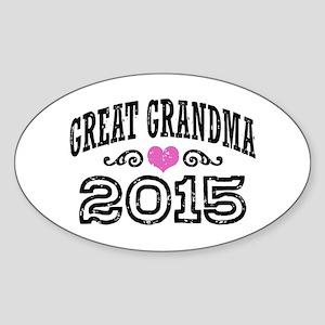 Great Grandma 2015 Sticker (Oval)