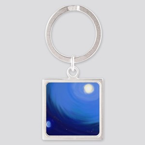 Sun and moon Square Keychain