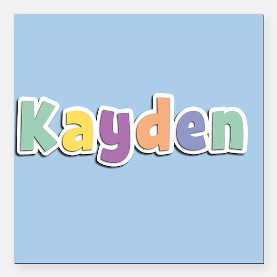 """Kayden Spring14 Square Car Magnet 3"""" x 3"""""""