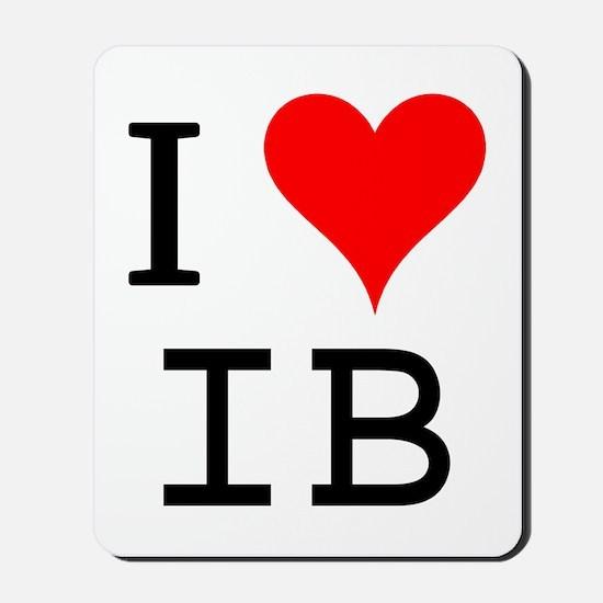I Love IB Mousepad