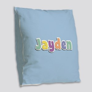 Jayden Spring14 Burlap Throw Pillow