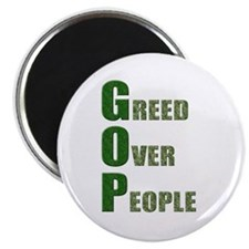GOP Greed Over People Magnet