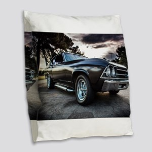1969 Chevelle Burlap Throw Pillow