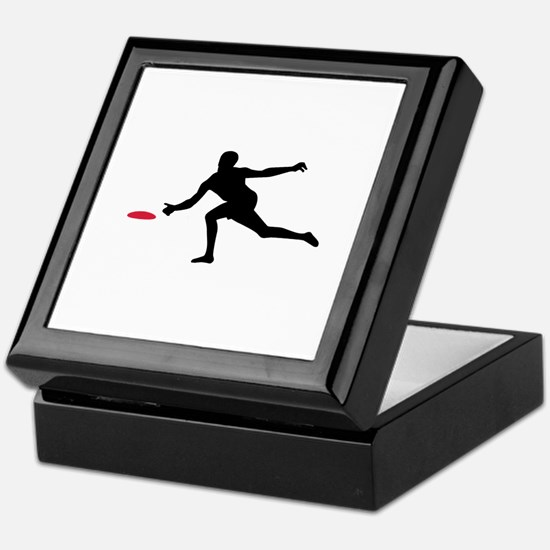 Discgolf player Keepsake Box