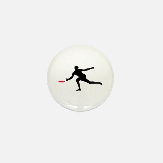 Discgolf player Mini Button