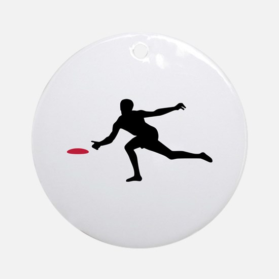 Discgolf player Ornament (Round)