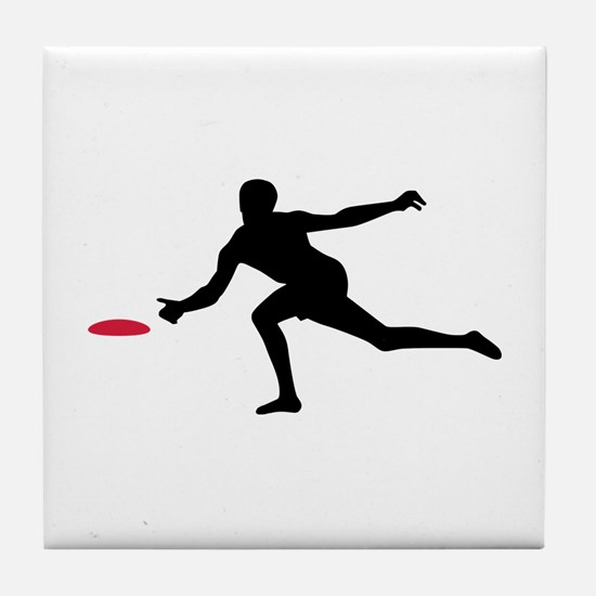 Discgolf player Tile Coaster