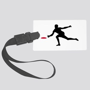 Discgolf player Large Luggage Tag