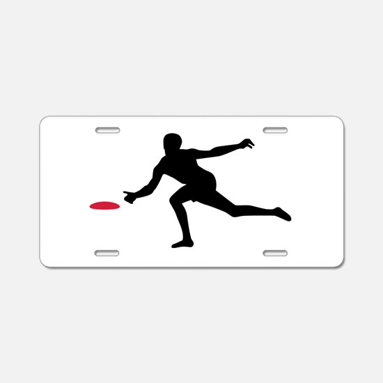 Discgolf player Aluminum License Plate