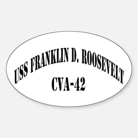 USS FRANKLIN D. ROOSEVELT Sticker (Oval)
