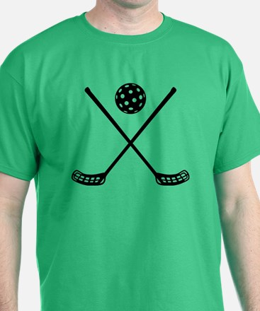 Crossed floorball sticks T-Shirt