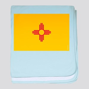 New Mexico State Flag baby blanket