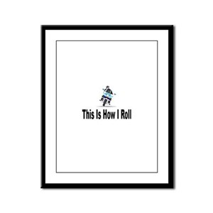 Police-How I Roll Framed Panel Print