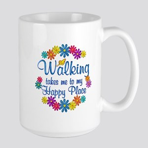 Walking Happy Place Large Mug
