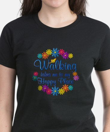 Walking Happy Place Women's Dark T-Shirt