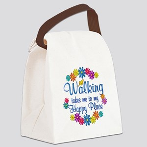 Walking Happy Place Canvas Lunch Bag