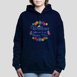 Walking Happy Place Women's Hooded Sweatshirt