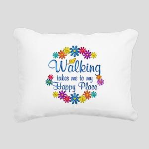 Walking Happy Place Rectangular Canvas Pillow