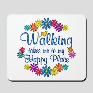 Walking Happy Place Mousepad