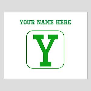 Custom Green Block Letter Y Posters