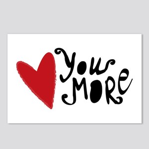 Love You More Postcards (Package of 8)