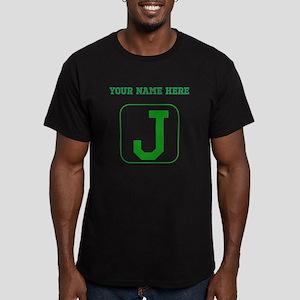 Custom Green Block Letter J T-Shirt