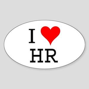 I Love HR Oval Sticker