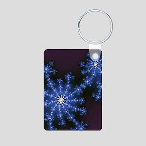 Fractal Fireworks Aluminum Photo Keychain