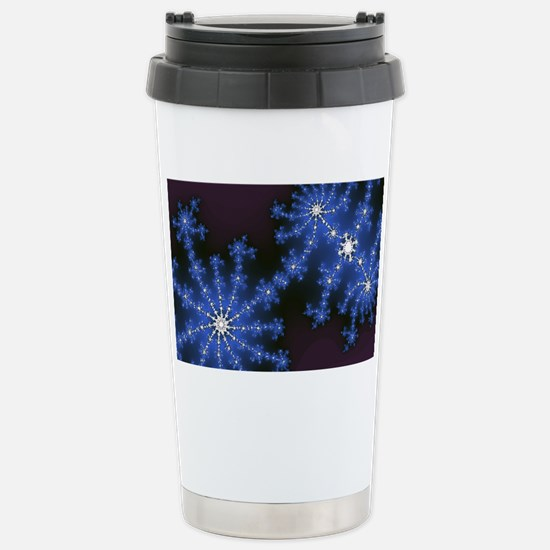 Fractal Fireworks Stainless Steel Travel Mug