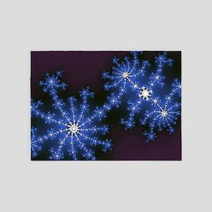 Fractal Fireworks 5'x7'Area Rug