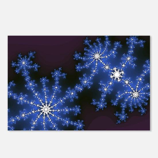 Fractal Fireworks Postcards (Package of 8)
