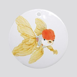 Daily Doodle 15 Goldfish Tail Ornament (Round)