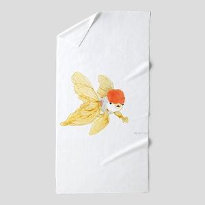 Daily Doodle 15 Goldfish Tail Beach Towel