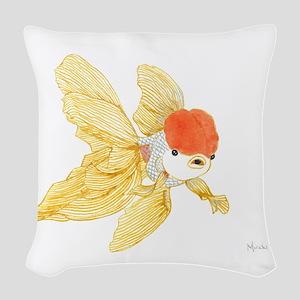 Daily Doodle 15 Goldfish Tail Woven Throw Pillow