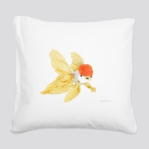 Daily Doodle 15 Goldfish Tail Square Canvas Pillow