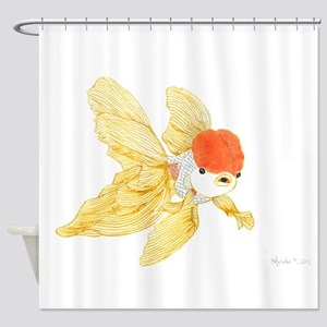 Daily Doodle 15 Goldfish Tail Shower Curtain